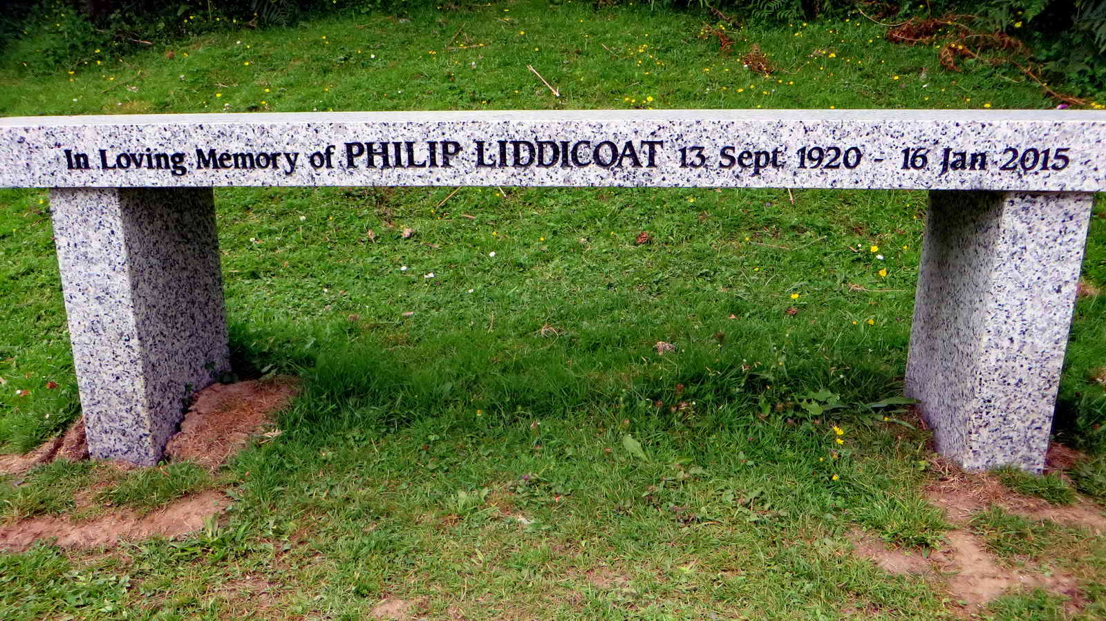 100 in loving memory bench recreation today